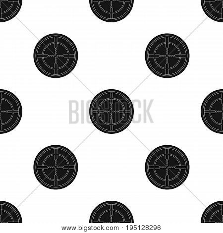 Optical sight.Paintball single icon in black style vector symbol stock illustration .
