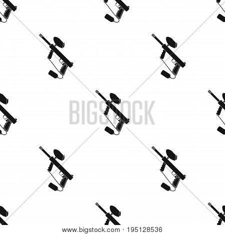 Marker for paintball.Paintball single icon in black style vector symbol stock illustration .