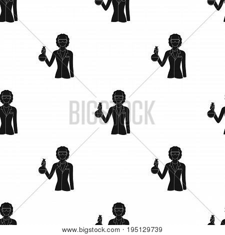 Chemist.Professions single icon in black style vector symbol stock illustration .