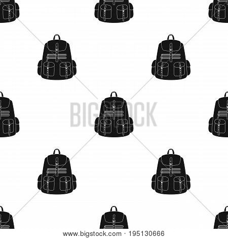 A backpack for things.Tent single icon in black style vector symbol stock illustration .