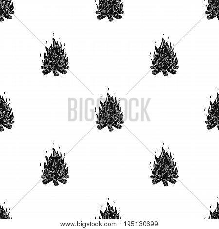 Bonfire.Tent single icon in black style vector symbol stock illustration .