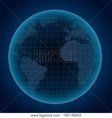 Abstract globe with dotted map EPS 10 contains transparency laered vector file.