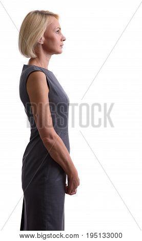 Beautiful Mid Aged Woman. Profile View