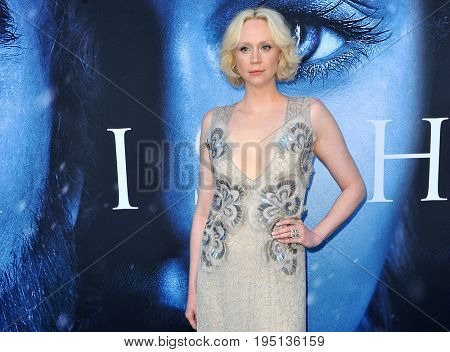 Gwendoline Christie at the HBO's 'Game Of Thrones' Season 7 premiere held at the Walt Disney Concert Hall in Los Angeles, USA on July 12, 2017.