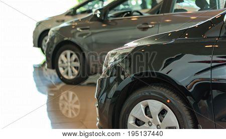 Car showroom. New car in the showroom
