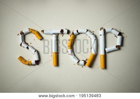 Stop Smoking Concept