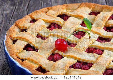 Sour Cherry Pie With Pretty Lattice Top