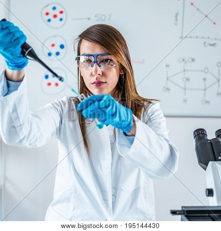 Life Science Research, One Woman Only, Toned Image