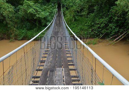 Hanging Bridge Over River