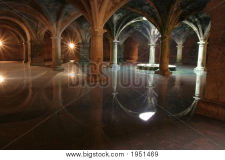 Vaults Of Cistern Portugese In El Jadid, Morocco