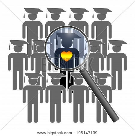 Searching for Student with Social Skills. Looking for a graduate with heart and mind