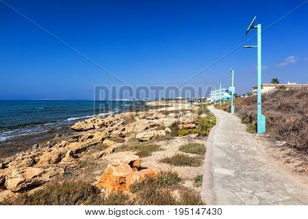 CYPRUS AYIA NAPA - SEPTEMBER 20 2016: coast line of Ayia Napa district.
