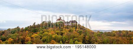 Wartburg castle in Eisenach Germany Panorama Shot