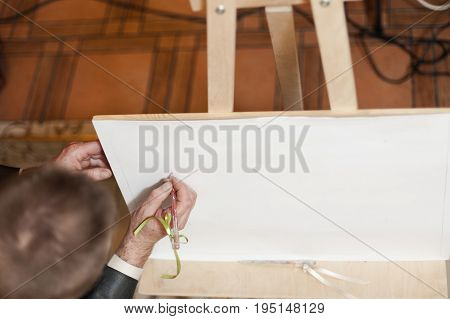 The Artist Draws A Picture At The Wedding