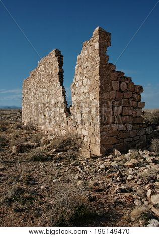 Diablo Canyon ruins,abandoned town in remote Nevada.