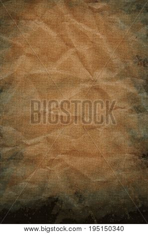 Grunge Paper Texture Crumpled Old Mouldy Design With Stains Background