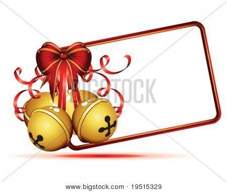 Gold Christmas Bells isoliert auf weißem Hintergrund