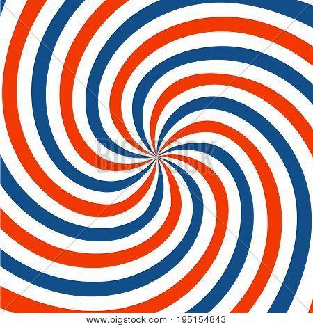 Red blue and white spiral background. Twirl design. vector illustration.