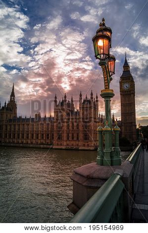 view of the houses of parliament from westminster bridge