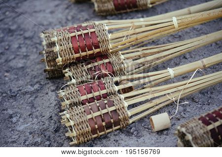 Bamboo Torch, Is The Preparation For The Holiday.