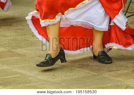 Typical Ecuadorian Dancer Feet