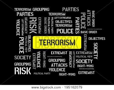 Terrorism - Calm - Image With Words Associated With The Topic Extremism, Word, Image, Illustration