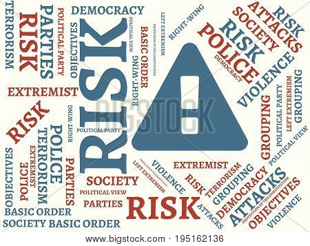 Risk - Unfairness - Image With Words Associated With The Topic Extremism, Word, Image, Illustration