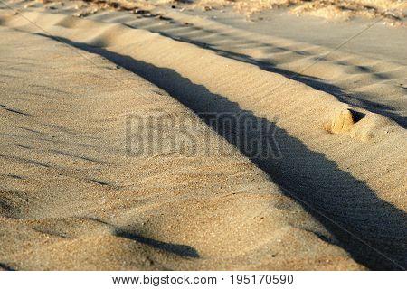 Texture Of Sand In Macro