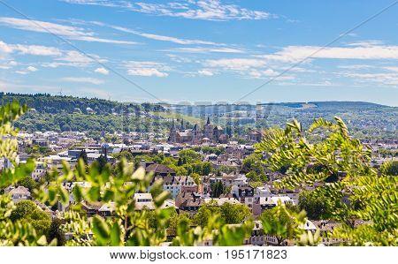 Panoramic View Of Trier Rhineland Palatinate Germany