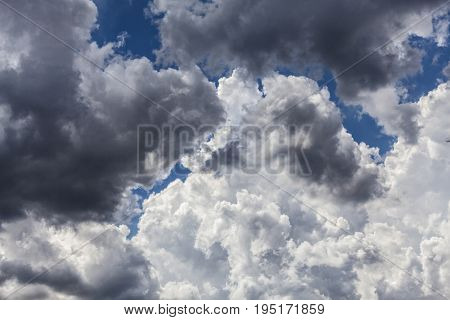 detail of cloudscape in summer time