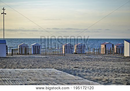 Beach Cabins At The Northsea