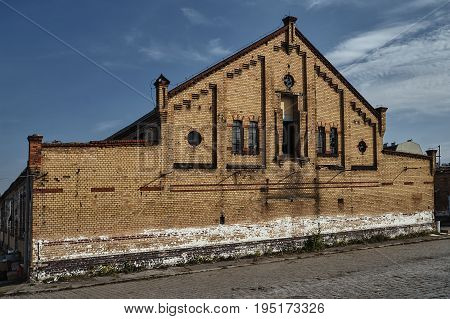 An abandoned building of the old slaughterhouse in Poznan