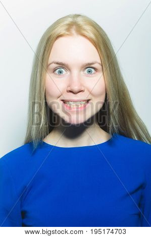 Woman With Happy Face Smiling With White Teeth Smile