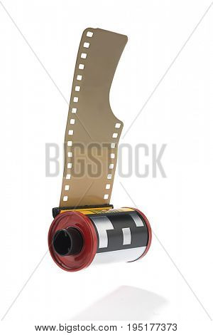 35mm Camera Film Isolated