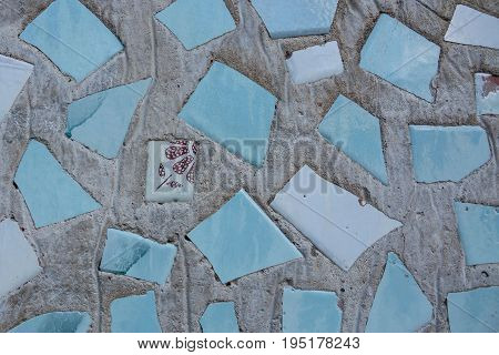 Handmade texture. Be individual. Concept of individuality exclusivity. Be yourself. Pieces of tile