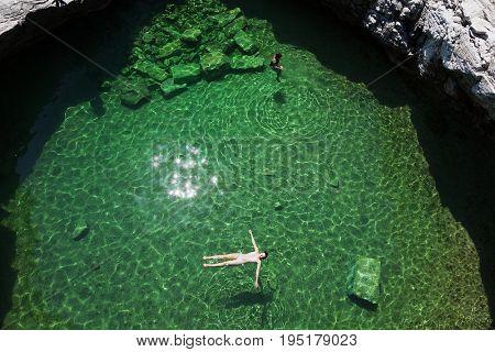 Giola Natural Pool on Thassos island, Greece