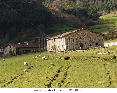 Typical Basque Country Farmhouse