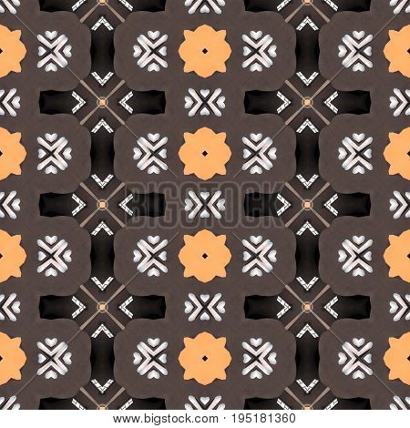 Original hippie seamless tileable trendy pattern design
