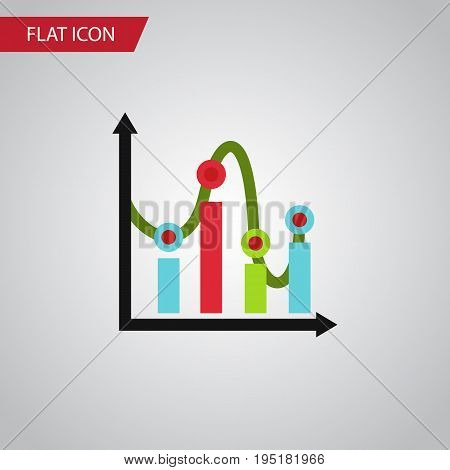 Isolated Graph Flat Icon. Chart Vector Element Can Be Used For Chart, Graph, Diagram Design Concept.