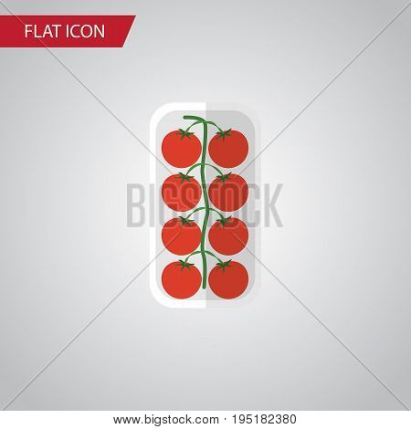 Isolated Love Apple Flat Icon. Tomato Vector Element Can Be Used For Love, Apple, Tomato Design Concept.