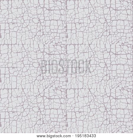 gray craquelure texture vector illustration. seamless pattern