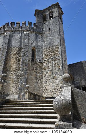 Exterior Of Templar Church Of The Convent Of The Order Of Christ In Tomar Portugal