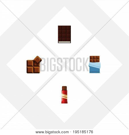 Flat Icon Bitter Set Of Dessert, Sweet, Bitter And Other Vector Objects. Also Includes Confection, Cocoa, Delicious Elements.