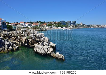 Cascais. Portugal. Cascais is famous and popular summer vacation spot for Portuguese and foreign tourists