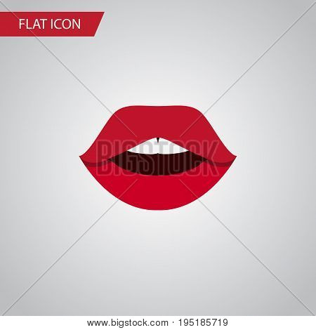 Isolated Pomade Flat Icon. Teeth Vector Element Can Be Used For Pomade, Teeth, Mouth Design Concept.