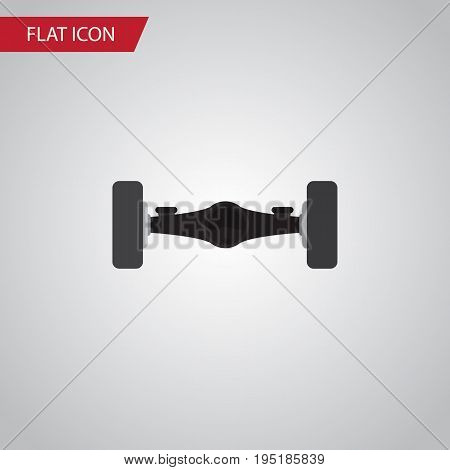 Isolated Automobile Axis Flat Icon. Suspension Vector Element Can Be Used For Automobile, Axis, Suspension Design Concept.