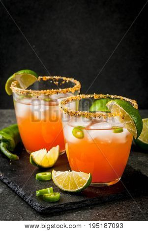 Traditional Mexican Cocktail Spicy Michelada