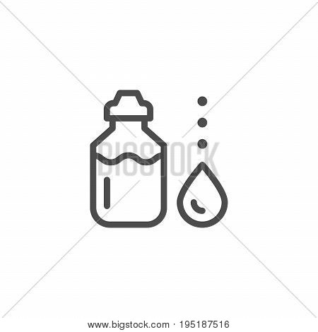 Sports water bottle line icon isolated on white. Vector illustration