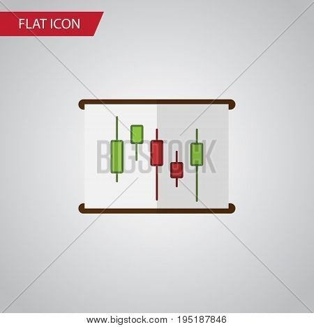 Isolated Chart Flat Icon. Diagram Vector Element Can Be Used For Diagram, Chart, Report Design Concept.
