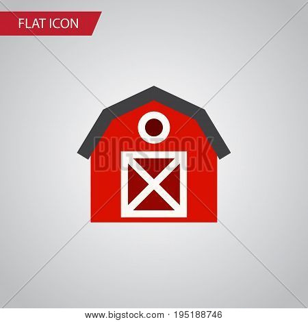 Isolated Storage Flat Icon. Warehouse Vector Element Can Be Used For Warehouse, Storage, Barn Design Concept.
